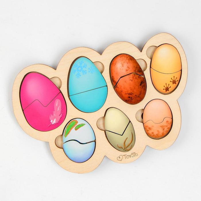 Рамка-вкладыш «Кто в яйце?» (бизиборды)