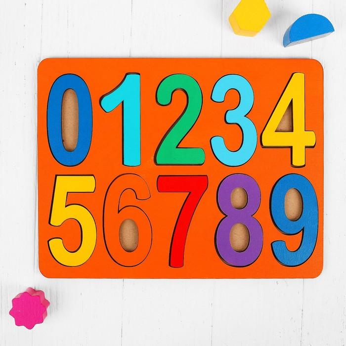 Рамки-вкладыши «Цифры», макси, высота цифр: 8,5 см
