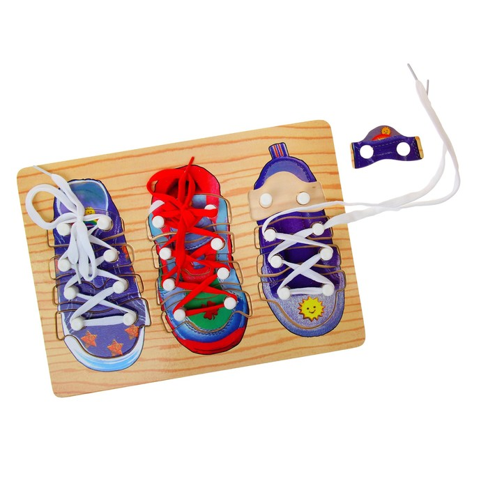 "Рамка-вкладыш ""3 ботинка"" со шнуровкой"