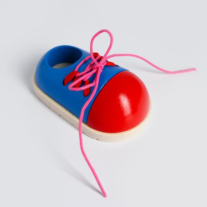 """Детская шнуровка """"Ботинок"""" 10,5х6,3х4,5 см"""