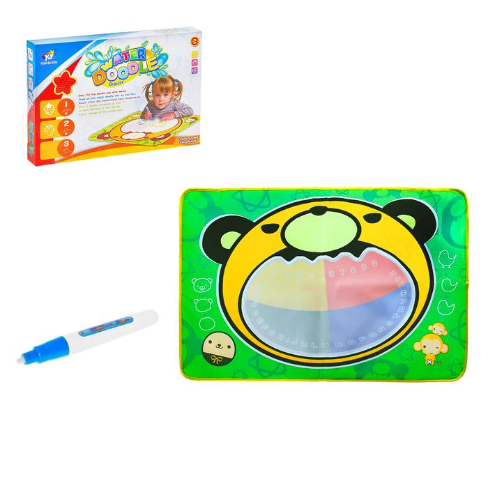 Коврик для рисования водой «Медвежонок», с маркером