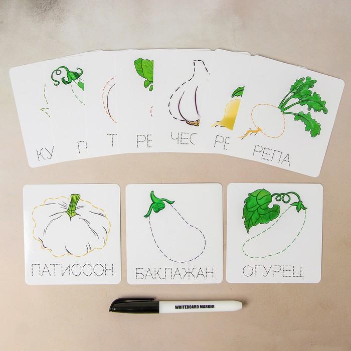 Карточки-прописи «Овощи»