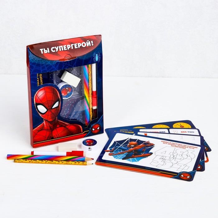 Письменный набор в рюкзаке-картон, Человек-паук