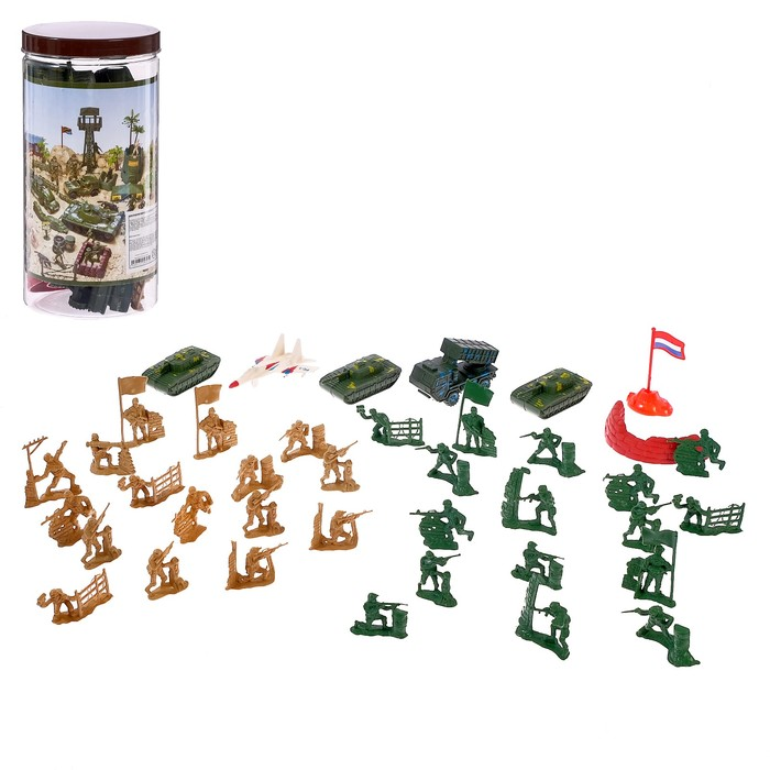 Набор солдатиков «Войско», 37 предметов