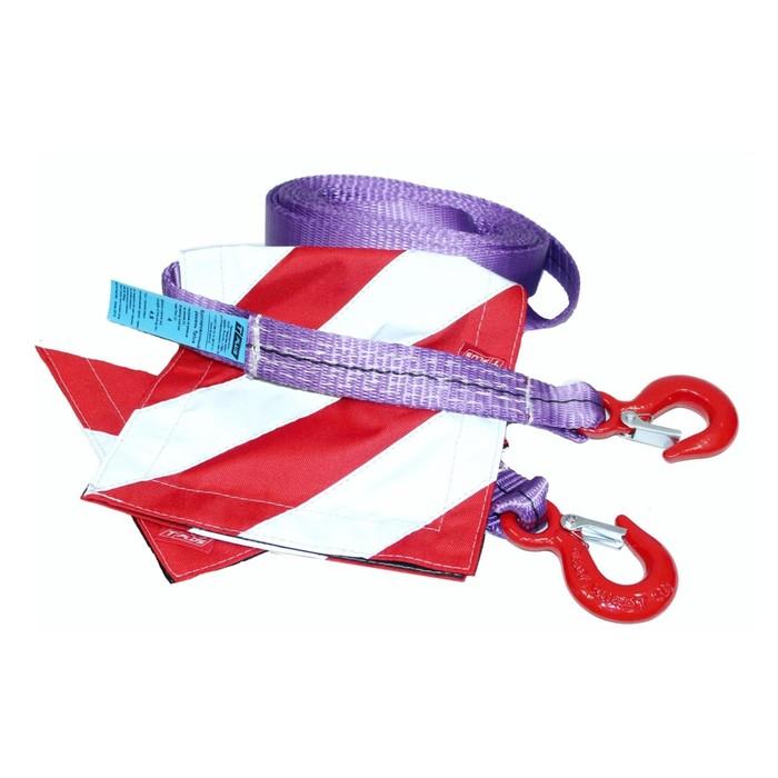 Буксировочный ремень, 4 м, для а/м до 2 т, Крюк/Крюк, с флажками 2 шт.