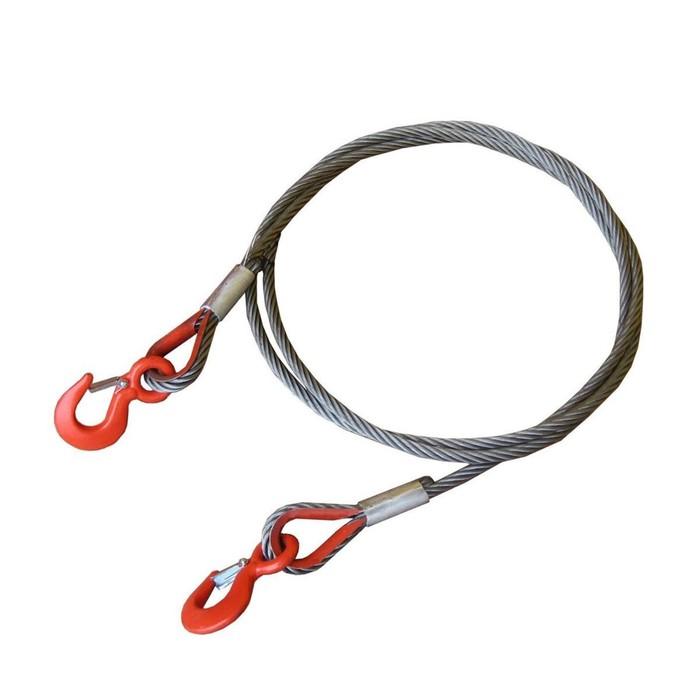 Буксировочный трос, стальной, 40 т, 5 м, Крюк/Крюк d: 22.5 мм