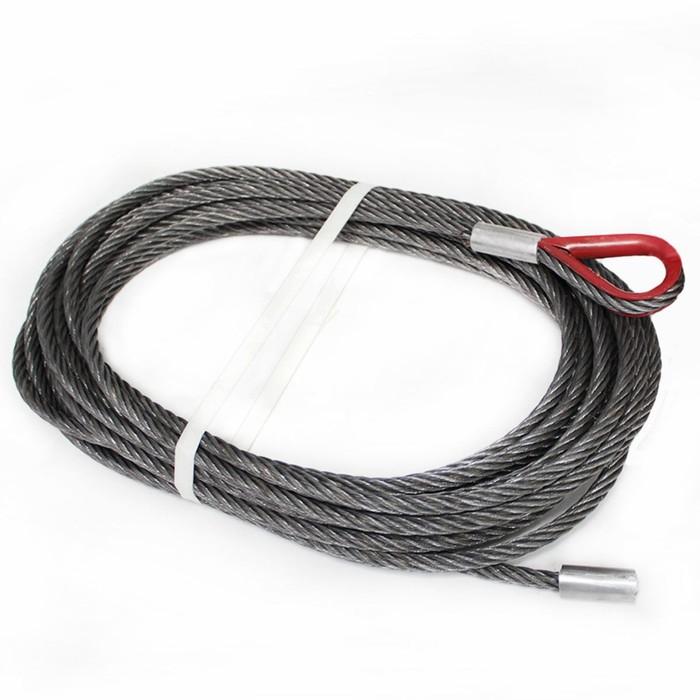 Трос стальной для автомобильных лебедок, 8 т, 35 м, d: 9.6 мм