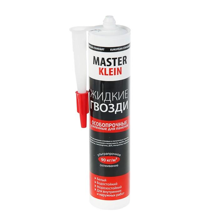 Жидкие гвозди Master Klein, особопрочные, для панелей, белые, 310 мл/440 г