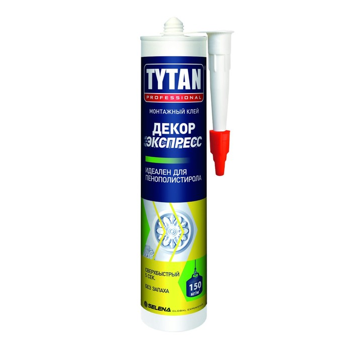 Клей монтажный Tytan Professional Декор Экспресс, 310 мл, белый