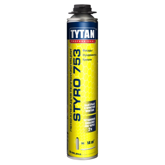 Клей Tytan Prоfessional Styro №753, для наружной теплоизоляции, 750 мл