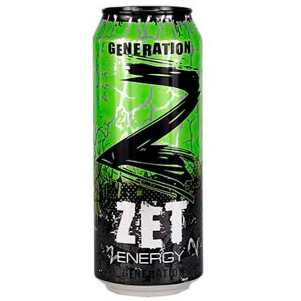 Энергетический напиток Zet Energy без/алк в железной банке
