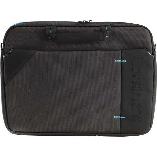 """Cумка для ноутбука Continent CC-205 GB, для 15.6"""" (чёрная с синим)"""