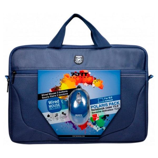 """Комплект сумка для ноутбука PORT DESIGNS 15.6""""+ мышь 501732"""