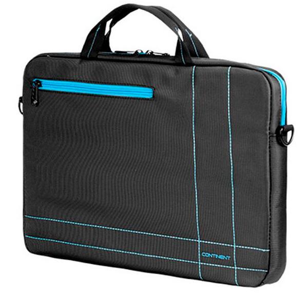 """Сумка для ноутбука Continent 15.6"""" Black/Blue (CC-201 GB)"""
