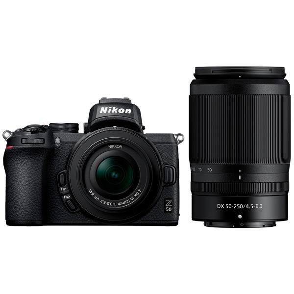 Цифровой фотоаппарат Nikon  Z 50 + NIKKOR Z DX 16-50 VR + 50-250 VR
