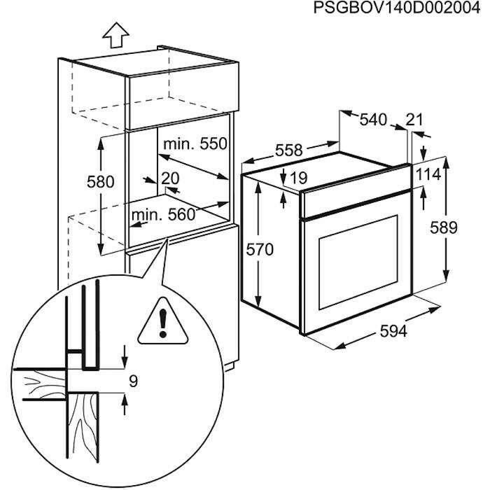 Встраиваемая духовка Electrolux EZB52410AW