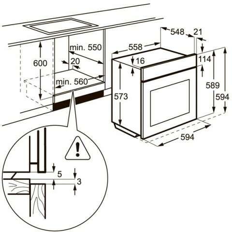 Встраиваемая духовка Electrolux EOB53434AK
