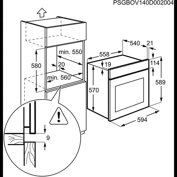 Встраиваемая духовка Electrolux EZB53430AK