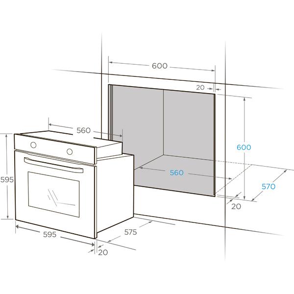 Встраиваемый духовой шкаф Midea MO23000GW