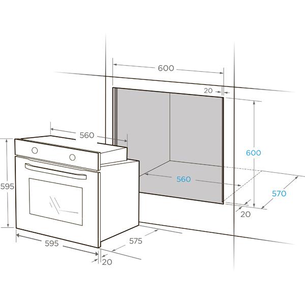 Встраиваемый духовой шкаф Midea MO78100CGW
