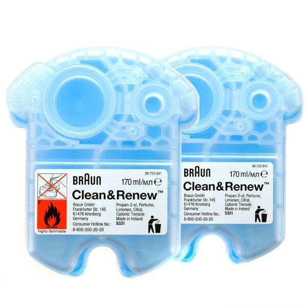 Сменный набор кассет для бритв Braun CCR 2 Clean&Renew 2 Pack