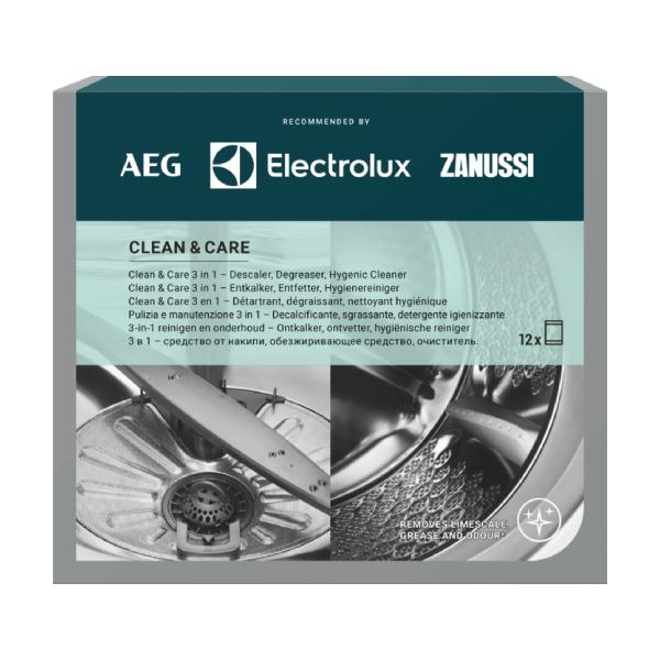 Средства для ухода Clean & Care 3 в 1 (12 пакетиков) Electrolux M3GCP400
