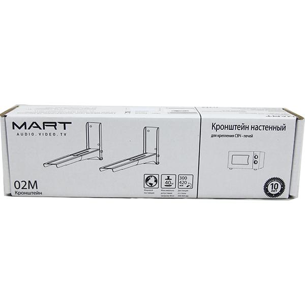 Кронштейн для СВЧ Mart 02М (белый)