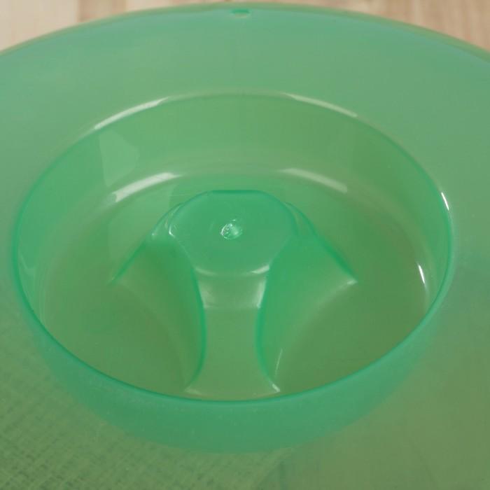 Крышка для СВЧ d=24 см, h= 11 см, цвет МИКС