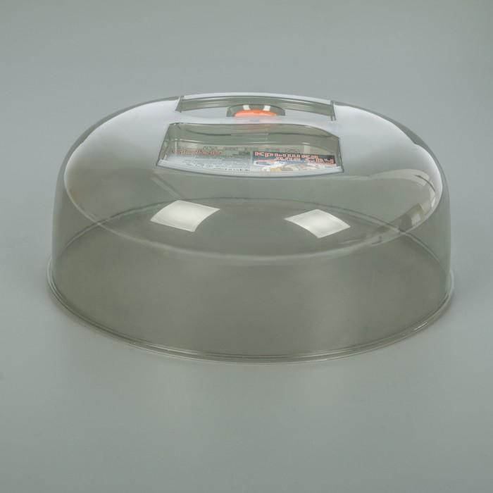 Крышка для СВЧ 26 см с клапаном, цвет дымчатый