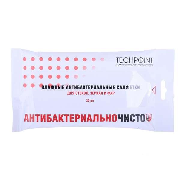 Влажные салфетки Techpoint 9015 (для стекол, зеркал, фар - 30 шт)