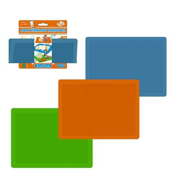 Коврик кулинарный силиконовый Мультидом AN80-93 (3 цвета)