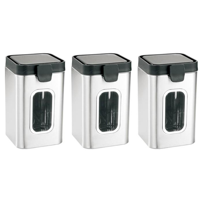 Набор контейнеров для сыпучих продуктов, 3 предмета