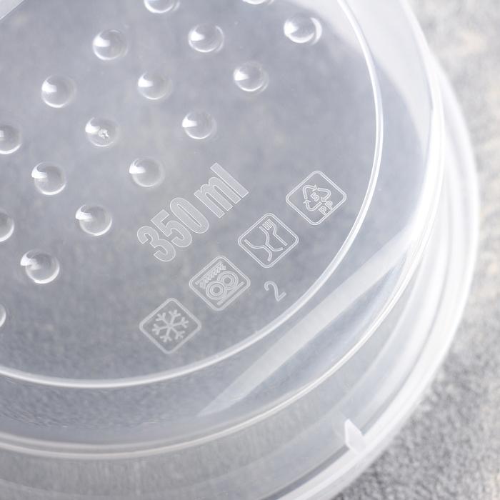 Контейнер пищевой 350 мл круглый с завинчивающейся крышкой Pattern, цвет МИКС