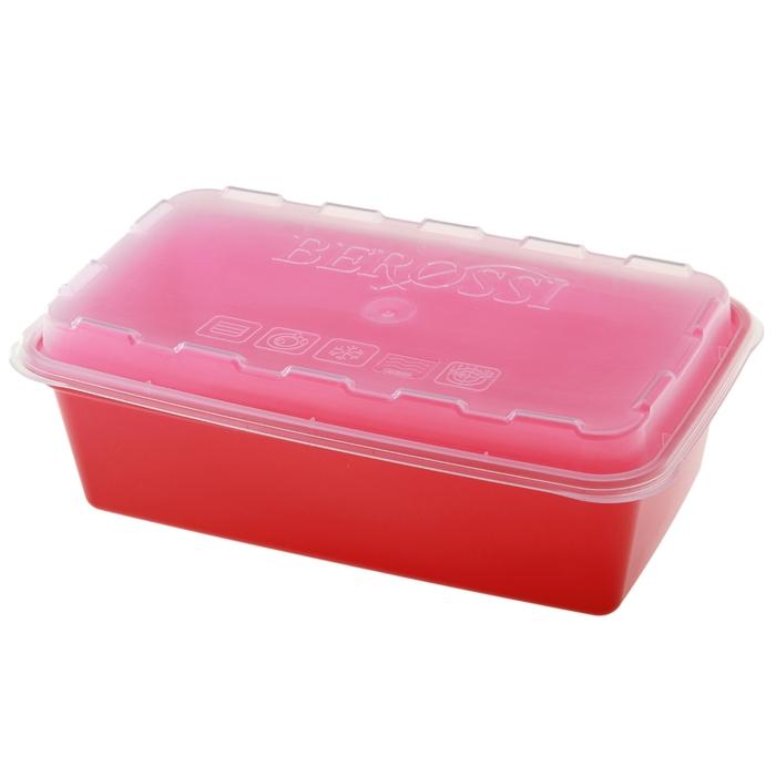 Контейнер для заморозки 1 л Zip, цвет красный
