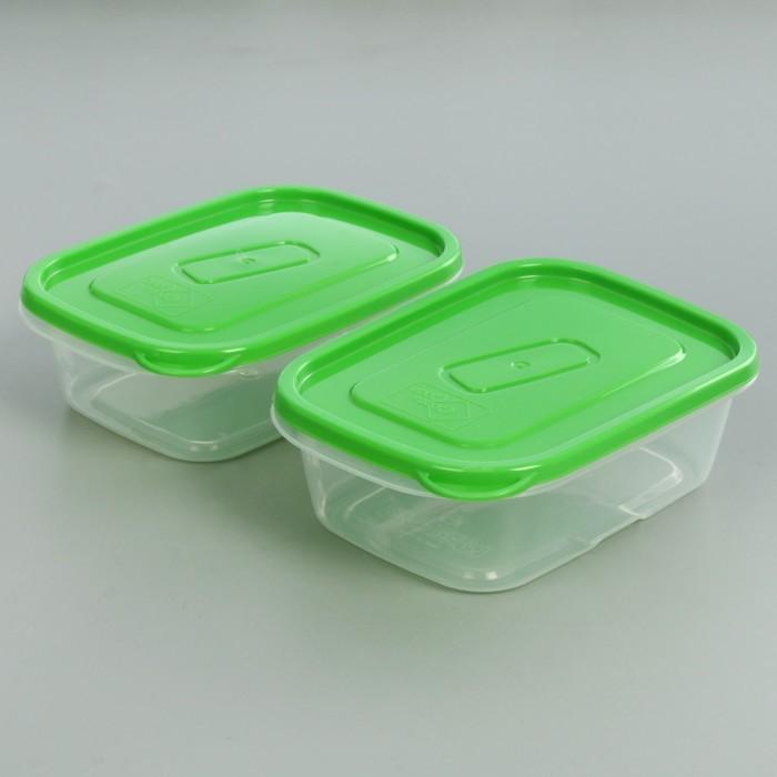 Набор контейнеров пищевых 500 мл, 2 шт, цвет МИКС