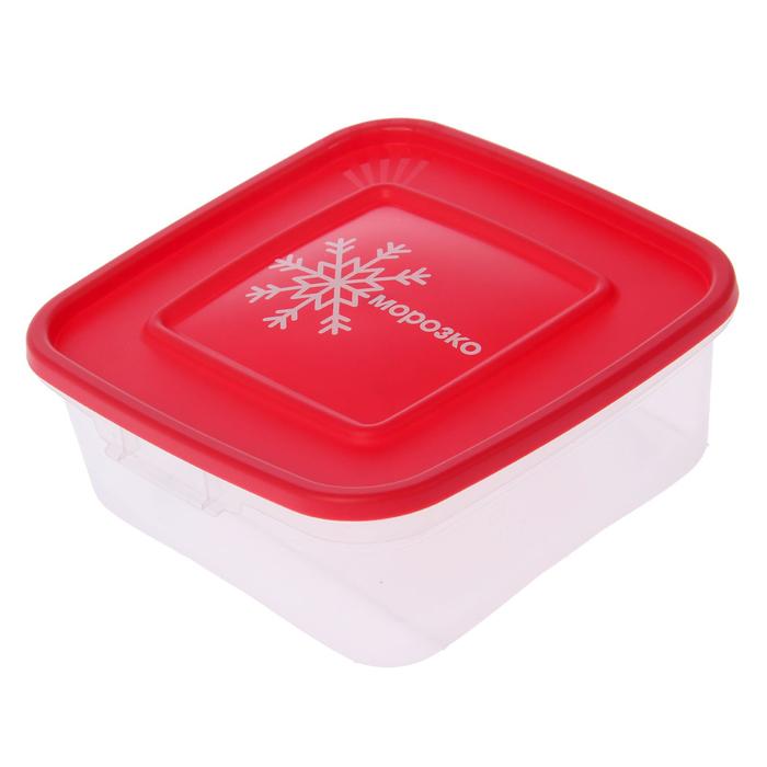 """Набор квадратных контейнеров для замораживания продуктов 0,7 л """"Морозко"""", 3 шт"""