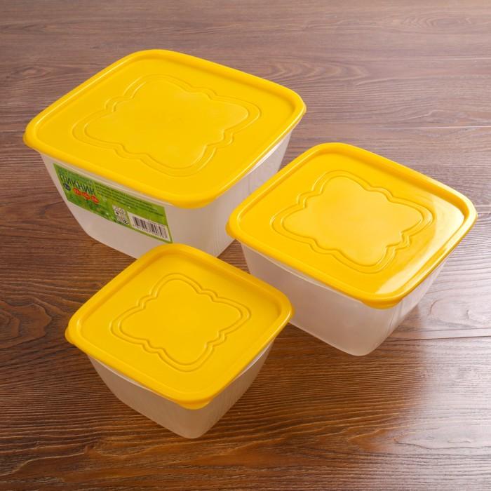 """Набор контейнеров пищевых для СВЧ """"Пикник"""", 3 шт: 700 мл, 1,5 л, 3 л"""