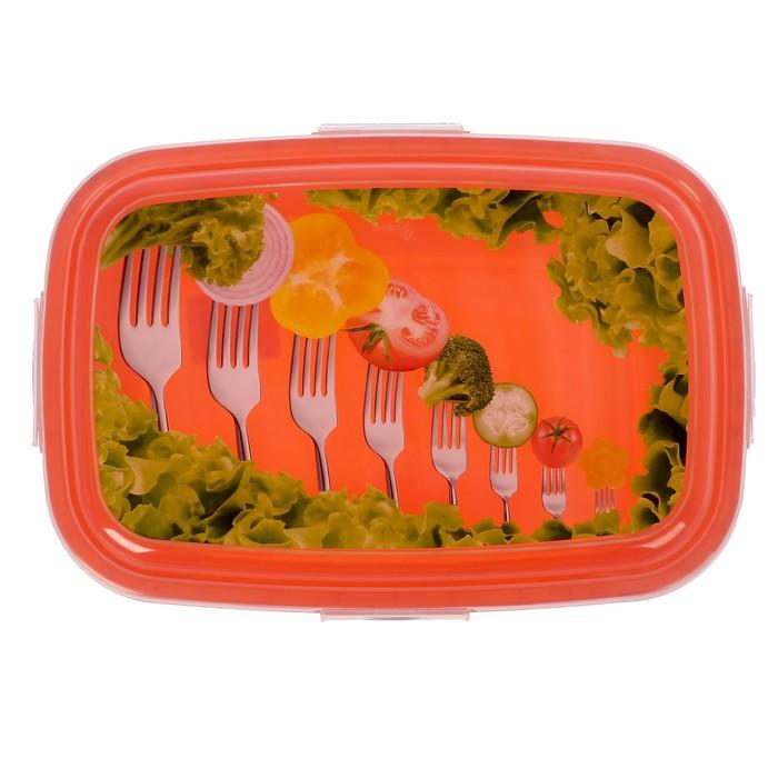 Контейнер пищевой 4,8 л Click&Lock, цвет МИКС