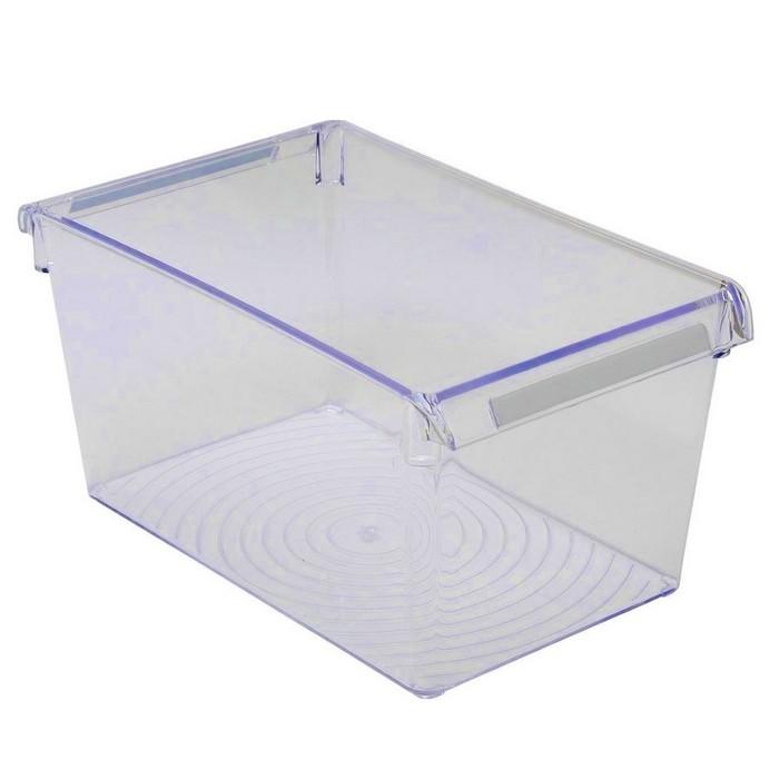 Контейнер для холодильника или шкафа 32,5 х 20,5 х 10 см, цвет прозрачно-синий