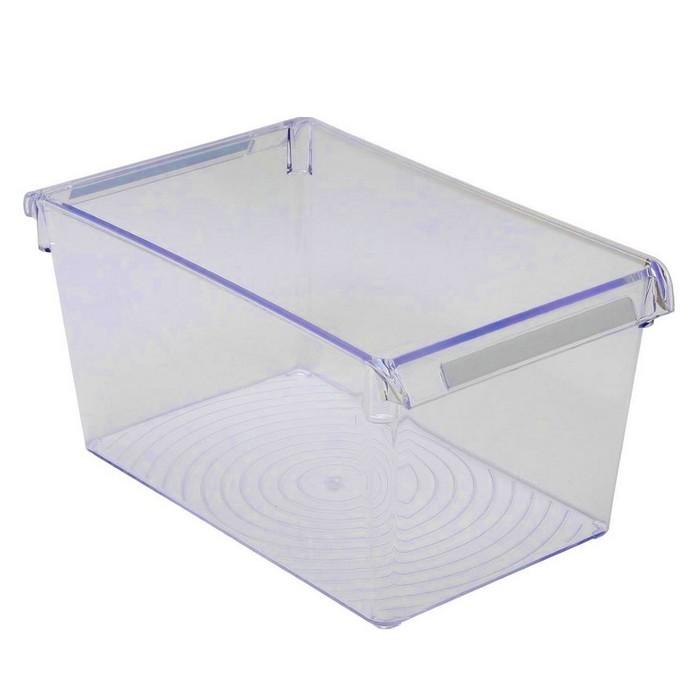 Контейнер для холодильника или шкафа 31х18х15 см, цвет прозрачно-синий