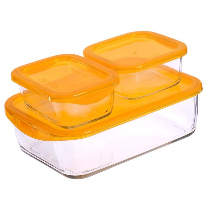 Набор контейнеров Keep'N Box: 0,36 л; 0,37 л; 1,9 л, цвет оранжевый