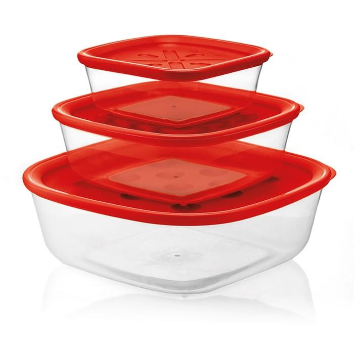 Набор из 3-х контейнеров Forme Casa, красный