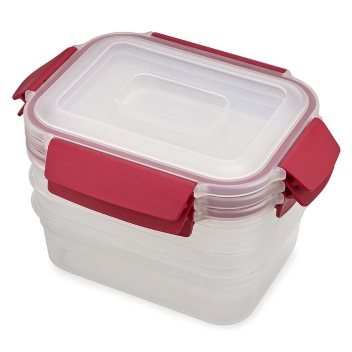 Набор из 3 контейнеров Nest Lock 1.1 л, красный