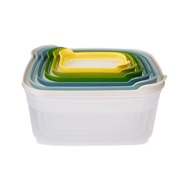 Контейнеры для хранения продуктов Joseph Joseph Nest 6, опал, 230 мл, 540 мл, 1,1 л, 1,85 л, 3 л, 4,5 л