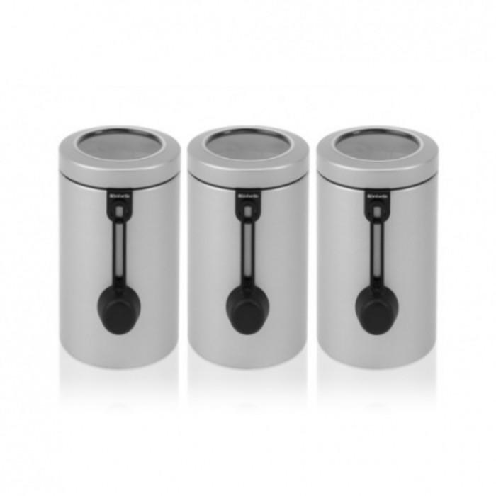 Набор контейнеров с ложкой, 3 предмета, объём 1,7 л