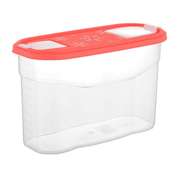 Банка для сыпучих продуктов Plast Team BERGEN 2,5л коралловый