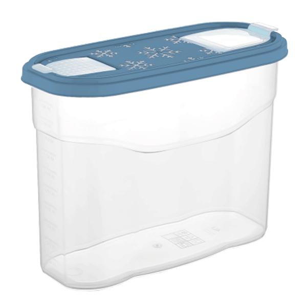 Банка для сыпучих продуктов Plast Team BERGEN 2,5л туманно-голубой