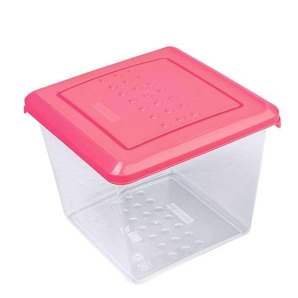 Емкость Plast Team PATTERN для хранения продуктов квадратная, 1л.