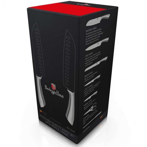 Набор ножей BerlingerHaus Infinity Line Silver BH-2041 8 пр.