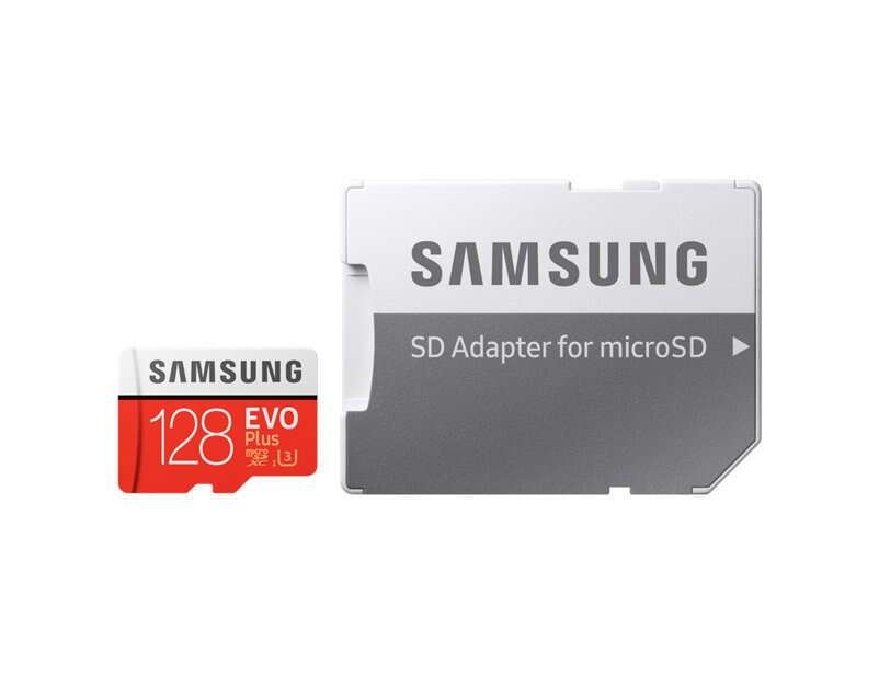 Карта памяти Samsung Evo Plus microSDXC 128GB Class 10 (MB-MC128GA)